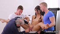 Lover assists with hymen physical and plowing o...