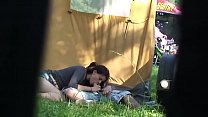 Outdoor festival amateur couple have sex secret...