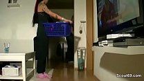 german sister caught him snif her panty and seduce to fuck