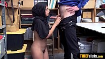 Muslim chick with a hijab gets fucked hard by a cop Thumbnail