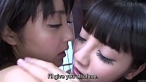 Subtitled JAV lesbian teens Sayo Arimoto and Re...