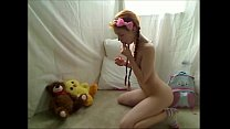 Teen Redhead Hottie Masturbates For Cam at 21oc...
