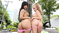 BANGBROS - Nikki Delano and Rose Monroe Getting Their Big Asses Fucked
