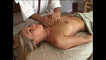 Blonde gets special massage
