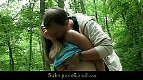 Bdsm fantasy into the forest with busty slave Thumbnail