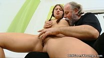 Old Goes Young - Anna has her pussy eaten out by older man - download porn videos