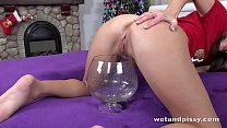 Wetting her panties makes Jenifer Jane hot and ...