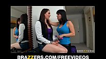 Curious brunette teen finds out that her step m...