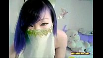 Asian Amateur Has Fun On Cam Playing Around