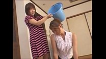 Asian teen slaps around her mother - foot domin...