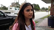 Download video bokep Picked up at bus stop teen banged in car with s... 3gp terbaru