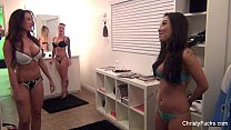 Asa Akira, Capri Cavanni & Chirsty Mack On Set thumb