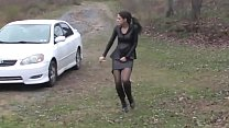 Bursting To Pee In Car, Sexy Girl Relieves Hers...