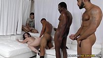 Sara Jay gets ganbanged by black dudes in front... Thumbnail