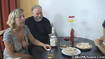 Czech blonde involved into family threesome