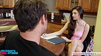 Horny brunette Zoe Wood gets nailed