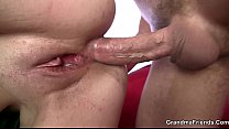 Mature bitch gets her throat and ass banged