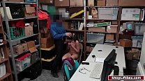 Teen shoplifter fucked in the LPs office