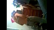 Kurdish student Aheng dances and strip in front...