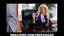 Busty blonde MILF offers her intern a job if he can fuck her right - download porn videos