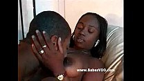 Sexy black wife cares for husband nicely