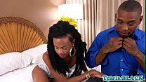 Ebony tgirl gets her ass banged by her lover