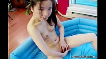 Skinny tight ass Asian teen fingers her wet pussy />
