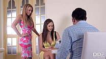 Swinger couple rock a threesome with Designer T...