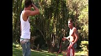 Hot muscled gay latino hunks hardcore outdoor a...