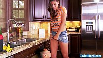Rilynn Rae doggystyle fun in the kitchen