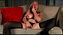 Saucy old spunker in stockings loves to fuck he...