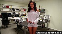 realgfsexposed   masturbating on her desk makes her extra horny