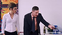 Julia Roca Has Her Hairy Pussy Pounded in the O...