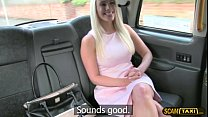 Blonde lady receives a hot jizz from the driver...