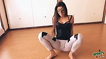 Big Botty Teen In Tight Yoga Pants Stretching H...