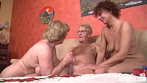 Two german mature slags sucking dick in threesome thumb