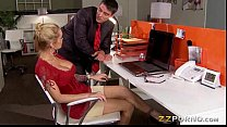 Huge boobs office girl Devon asshole pounded hard by her coworker