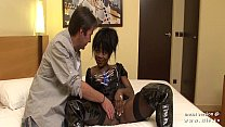 Big boobed french black hard analyzed with cum to mouth in a hotel room