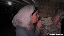 Arab woman sucks american soldiers cock