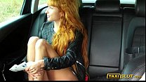 redhead liza flashes and fucked in taxi cab with the driver