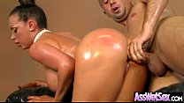 Hard Anal Sex Tape With Oiled Big Booty Wild Girl video-19 Thumbnail