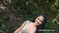 Bigtit Latina gf blows thick cock by river