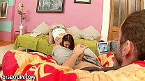 Teens Blue Angel and Stacy Snake lick pussy and suck cock in threesome № 111526 без смс