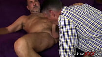 Two daddies with piercing and tattoo loves hard...
