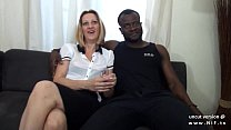 Casting couch french mature mom hard DP by whit...