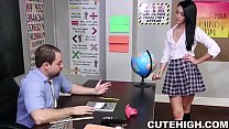 Pretty Babe Fucking at Class