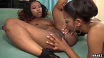 wankz  sexy black girls lotus and chanell heart lez out