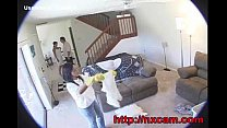 Hidden Cam Captures Maid And Wife In Secret Les...