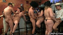 They bang three hot fatties in the pub