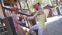 Blond Teen Boxers Love Strap-on